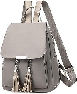 حقيبة الظهر Hanyuemin للنساء حقيبة كتف أكسفورد حقائب سفر حقائب الظهر (اللون: كاكي)