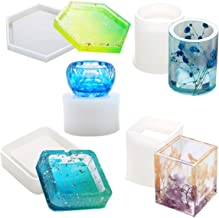 3pcs Coaster Molds iSuperb 3 Pcs Resin Molds Irregular Coaster Molds Epoxy Silicone Molds for Jewelry Making Coasters Bowl Mats Resin Crafts