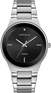 Caravelle Men's Quartz Watch with Stainless-Steel Strap, Silver, 22 (Model: 43D106)