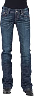 Ladies' 818 Hollywood Contemporary Arrow Embroidery Boot Cut Jeans
