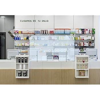 Mampara transparente anti contagio y protección 100 x 75 cm, separador para mostrador, mesas, oficinas y comercios: Amazon.es: Oficina y papelería