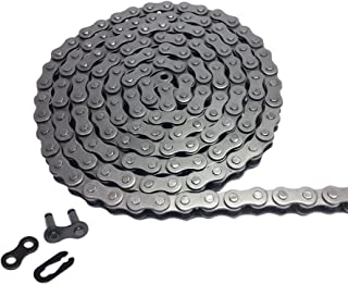 # 40 Carbon Steel Roller Chain Length 5 Feet with 1 Connector Link 0.5 inches Black