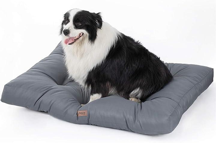 Cuscino per cani bedsure taglia grande impermeabile 91x68x10 cm grigio lavabile EUA9Q1AG10L