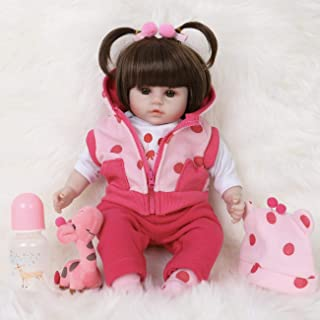 ENA Reborn Baby Doll Realistic Silicone Vinyl Baby 16 inch Weighted Soft Body Lifelike Doll Gift Set for Ages 3+