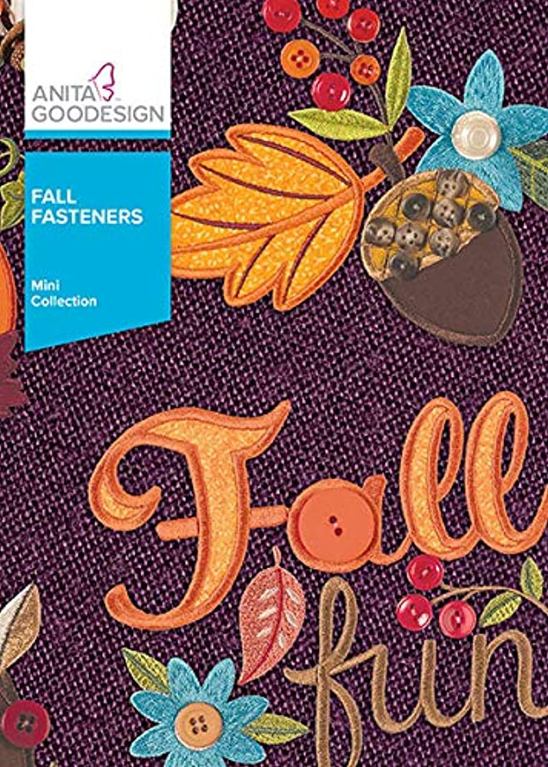 Anita Goodesign Embroidery Machine Designs CD Fall Fasteners