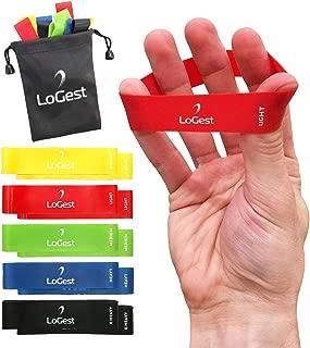 10 Piece Set Hand Exerciser Finger Bands - High Resistance Loops for Finger Strengthener Trainer Hand & Forearm Exerciser - Stretch Bands for Hands - Strong Grip Hand Strengthener for Men & Women