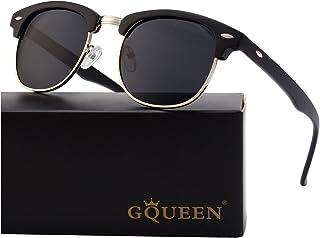 GQUEEN Horn Frame Half Frame Polarized Sunglasses GQO6