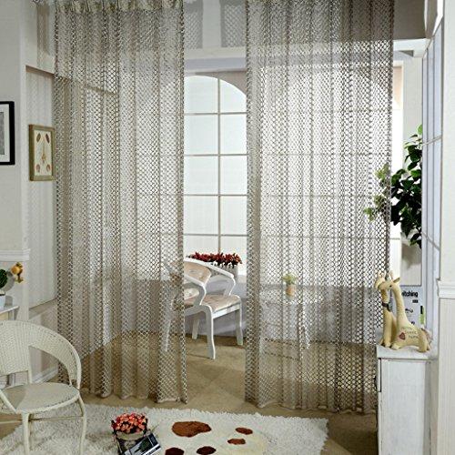 Met Love Translucide Warp Tricot Fenêtre Screening Accueil Respirant Translucide Salon Chambre Étude Balcon Dedicated Bay Window 2 Panneaux (taille : L:1.5*H:2.7m)