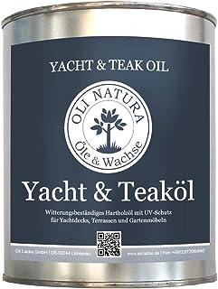 OLI-NATURA Yacht & Teaköl Holzöl für Außenbereich, UV-Schutz Farbe: natur, Inhalt: 2,5 Liter
