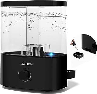 Aujen 5L 超音波加湿器 大容量 加湿器 アロマ 卓上加湿器 除菌 アロマ対応 上から注水タイプ 空焚き防止機能 霧量調節 静音作業 LEDライト付き