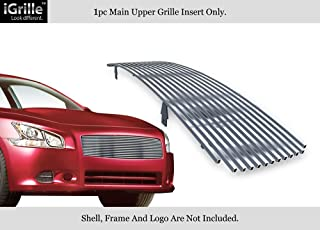APS Compatible with 2009-2014 Nissan Maxima Upper Stainless Steel Billet Grille Grill Insert N85218C