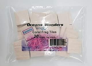 Oceans Wonders Ceramic Coral Frag Tiles 20pc