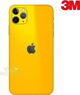 SopiGuard Skin for Apple iPhone 11 Pro Max Precision Edge-to-Edge Vinyl Sticker Full Body Wrap (3M Gloss Yellow)