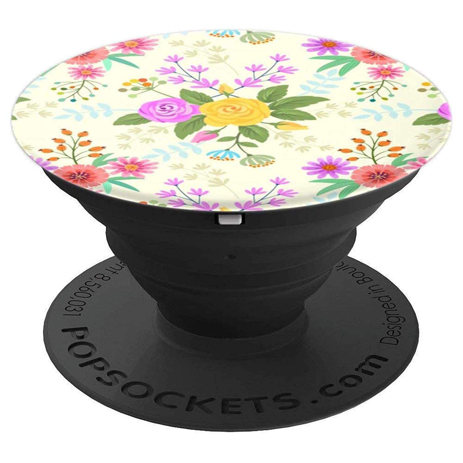 Simple But Elegant Floral Print Gift for Men & Women - PopSockets Grip and Stand for Phones and Tablets