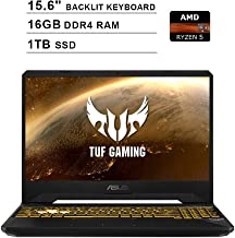2019 Newest ASUS TUF 15.6 Inch FHD 1080p Gaming Laptop (AMD 4-Core Ryzen 5 3550H up to 3.7GHz, 16GB DDR4 RAM, 1TB SSD, NVIDIA GeForce GTX 1050, Backlit KB, Windows 10) (Black)