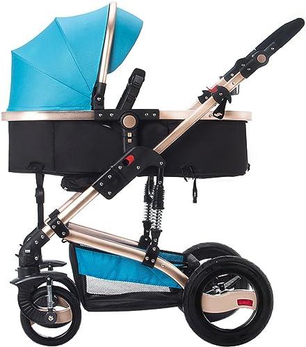 Chariot bébé Enfant   Trolley lumière Umbrella voiture Four-Wheel Collision Folding Can Hommestir les chariots pour enfants Poussette bébé pliante pour enfants
