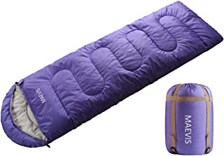 Maevis Camping Sleeping Bag - 3 Season - Winter,  Spring,  Fall,  Envelope Lightweight Portable,  Waterproof for Adults & Kids - Camping Gear Equipment,  Traveling,  Hiking and Outdoors