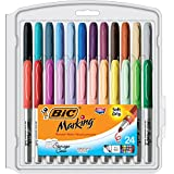 BIC Mark-It Fine Point - Paquete de 24 rotuladores permanentes, multicolor
