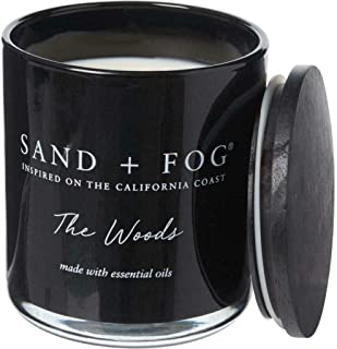 Sand + Fog The Woods Candle in a Glass Jar with Wood Lid - 12 oz.