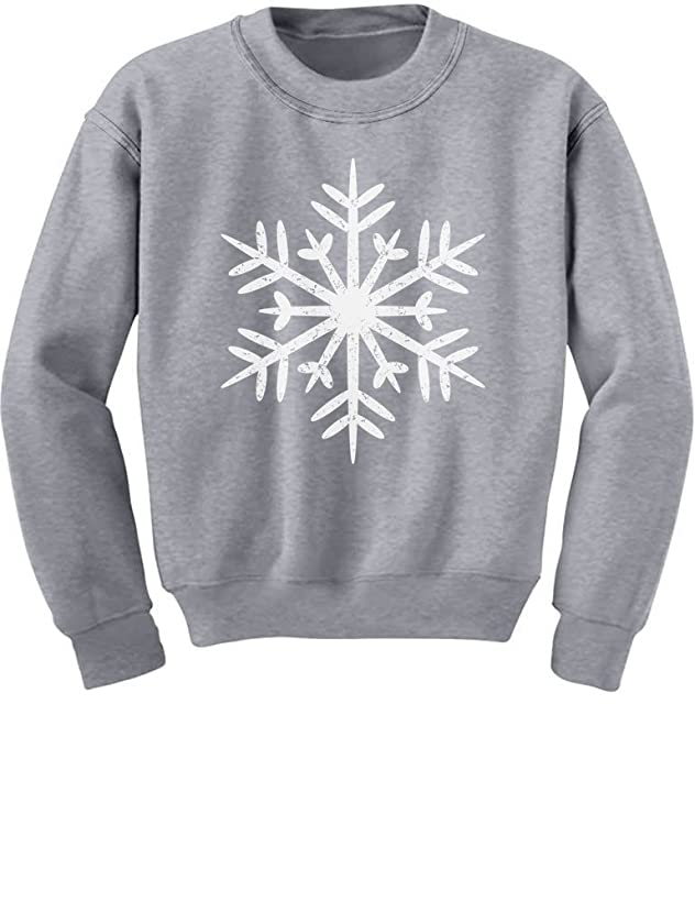 Big White Snowflakes Children's Xmas Kids Sweatshirt