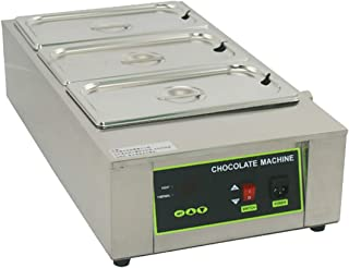 Commercial Chocolate Melting Pot 3 Tanks Electric Chocolate Melter Chocolate Tempering Machine Digital Control 26.45 lbs (...