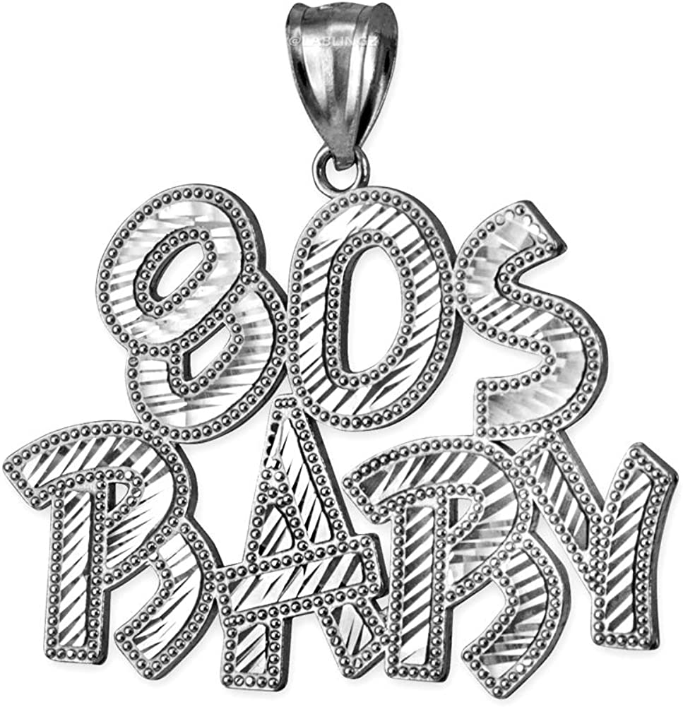 Sterling Silver 80S BABY Hip-Hop San Jose Mall DC Pendant Topics on TV
