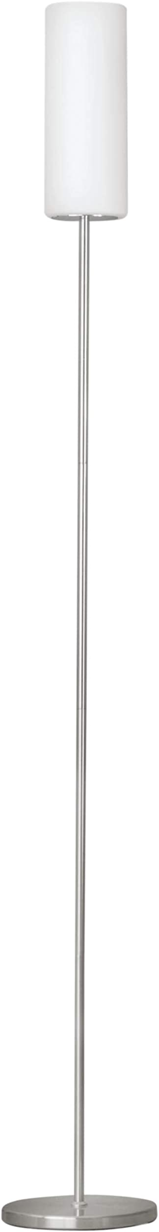 Eglo troy 3, lampada da terra a stelo , in acciaio e vetro 85982