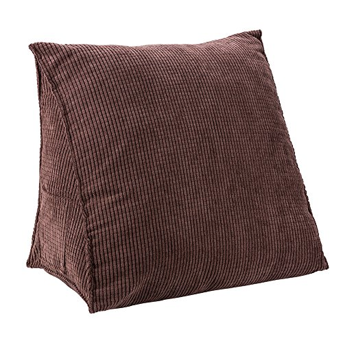 HALOViE Soft Reading Pillow Triangle Back Cushion Pillow Sofa Bed Office Chair Rest Pillow Back Support Pillow-18.5 x 17.7 x 9 Inch