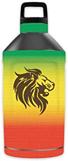 MightySkins Skin Compatible with OtterBox Elevation Tumbler 64 oz - Rasta Lion   Protective, Durable, and Unique Vinyl Decal wrap Cover   Easy to Apply, Remove, and Change Styles   Made in The USA