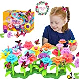 Conleke Flower Garden Building Toys for Kids Toddlers, Creative DIY Build a Bouquet