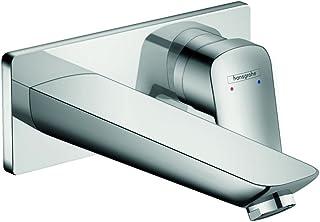 Hansgrohe 汉斯格雅Logis 节水型安装单把台面龙头 便捷出水195mm 墙面安装 镀铬