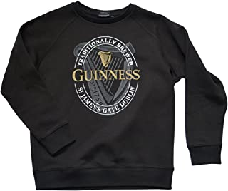 Guinness Black Ireland Harp Logo Crewneck Sweatshirt