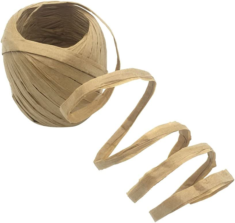 oshhni 20m Roll Now free shipping Raffia Paper String Package Ribbon It is very popular Gift Scrapboo
