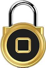 Vingerafdruk hangslot Mini Metalen Goud/Zilver Smart Elektrische Vingerafdruk Lock Home Hangslot met Batterij voor Bag Bag...