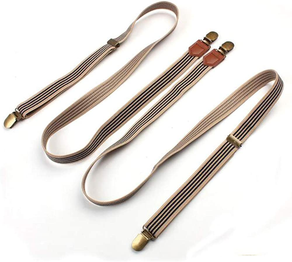 Adjustable Suspenders with Nickel Clip for Men