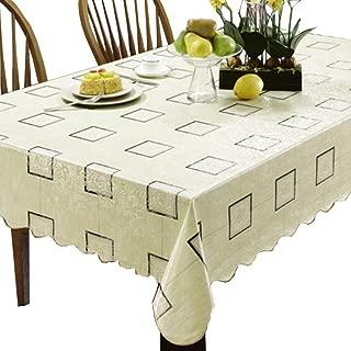 Kylin Express Plaid Charm 42 x 60-Inch Rectangular Tablecloth Table Decor
