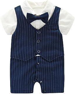 Fairy Baby Baby Strampler Jungen, Babykleidung aus Bio-Baumwolle Strampler-Set Klitzeklein Kurzarmbody für Jungen0-24 Monate