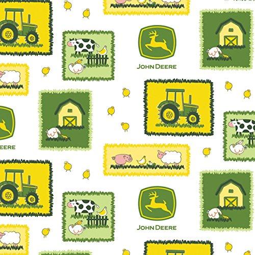 John Deere-Nursery 43/44 Wide 100% Cotton D/R-Farm Scene Patches