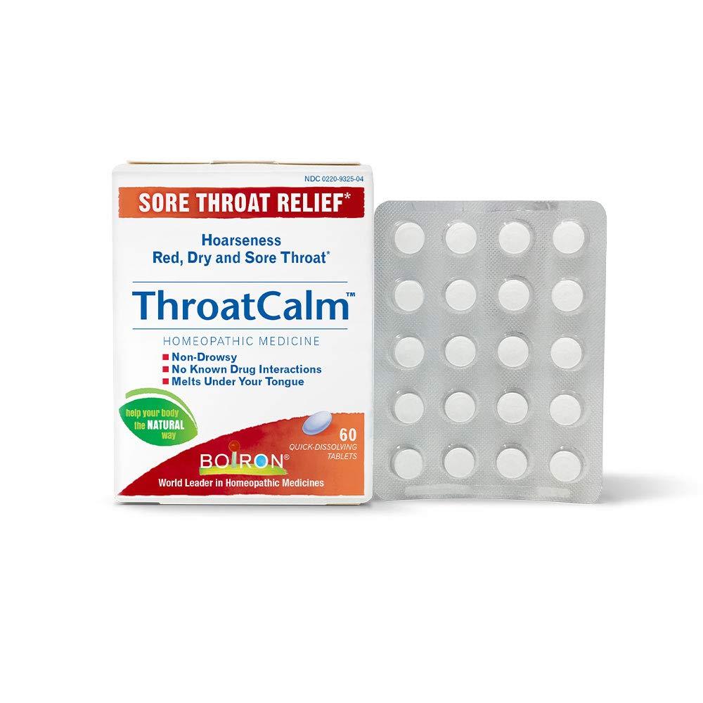 Boiron Throatcalm Homeopathic Temporary Non Drowsy