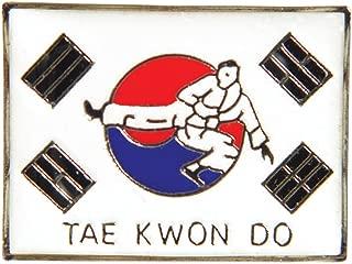 Tiger Claw Uniform Pin - Tae Kwon Do (TKD) Korean Flag