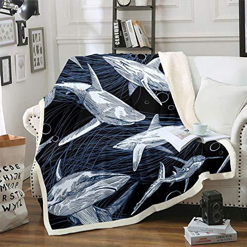 Manta de forro polar de franela suave y ligera para sofá, diseño de calavera, para dormitorio, sala de estar, doble (152 x 203 cm)