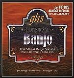 GHS BANJO - Jeu de cordes en acier inoxydable - 5 cordes - PF185 - Presque Medium