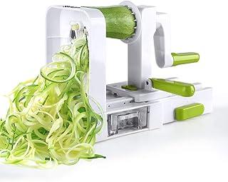 Sedhoom Spiralizer 5 Lames Coupe-légumes Spirale de légumes, Pliable trancheuse Spirale, courgettes Nouilles et légumes Pâ...