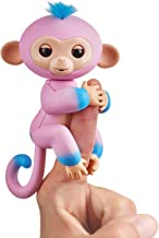 Fingerlings 2Tone Monkey - Candi (Pink with Blue accents) - Interactive Baby Pet - By WowWee