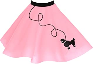 Hip Hop 50s Shop 1950s Poodle Skirt for Girls, Retro Felt Skirt, Children's Costume for Halloween