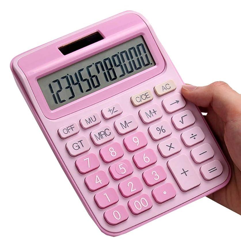 ビタミン仲人カーテンツーウェイパワーを備えた正規の電卓 - ピンク色の女の子