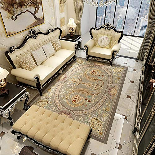 RUGMRZ Bedroom Rugs grey Carpet gray retro floral geometric pattern anti-dirty carpet living room durable Patio Rugs Waterproof Large 80X120CM Bedroom Rugs For Adults 2ft 7.5''X3ft 11.2''