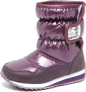 0427eff4926b S-BAO Boy s Girl s Winter Snow Boots Waterproof Warm Faux Fur Lined Outdoor  Shoes