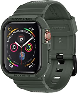 Spigen Apple Watch 44mm Series 4 Rugged armor PRO cover/case with Band - Military Green