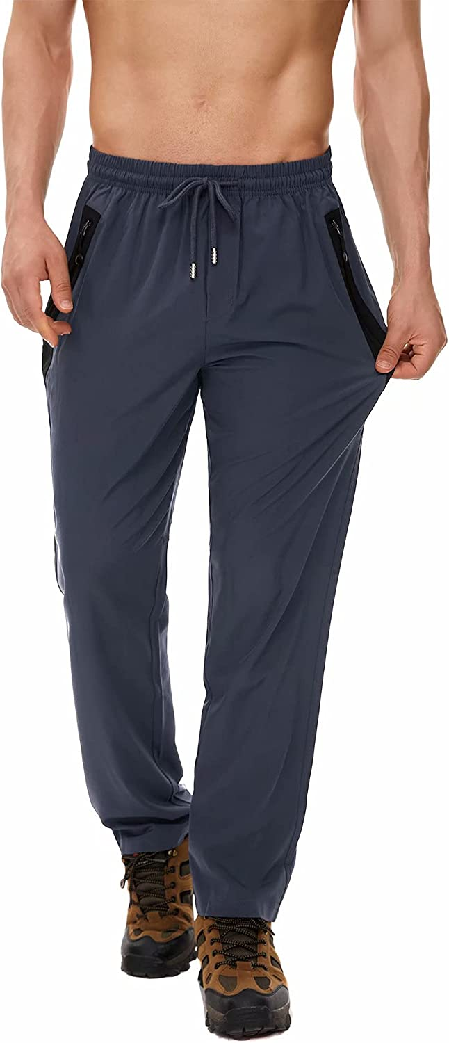 Yundobop Men's Workout Challenge the lowest price Athletic Pants B Zipper with Pockets Fixed price for sale Open